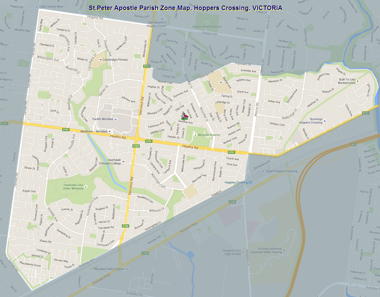 St.Peter Apostle Parish Zoning Map