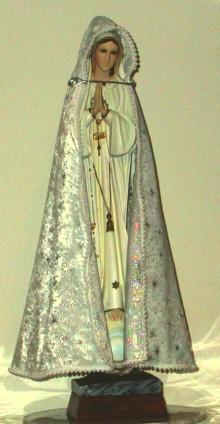 White Jewelled Madonna Statue